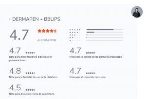 calificación curso dermapen y bb lips